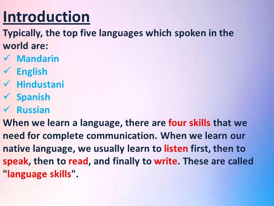 Jazan UniversityKSA Ppt Video Online Download - Top five languages spoken in the world