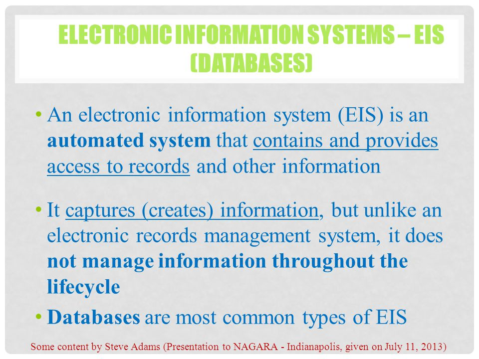 Electronic records management ppt download for Document management system types