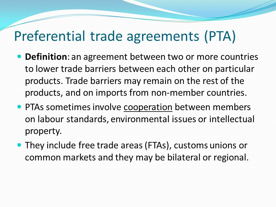 Economic integration definition economic cooperation between preferential trade agreements pta platinumwayz