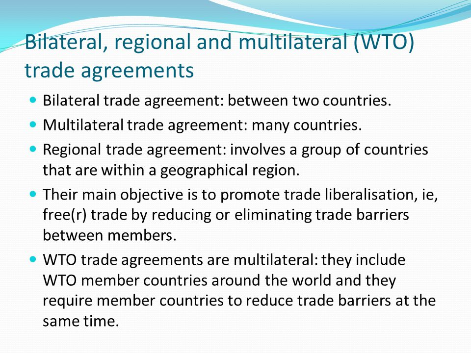 Economic integration definition economic cooperation between bilateral regional and multilateral wto trade agreements platinumwayz