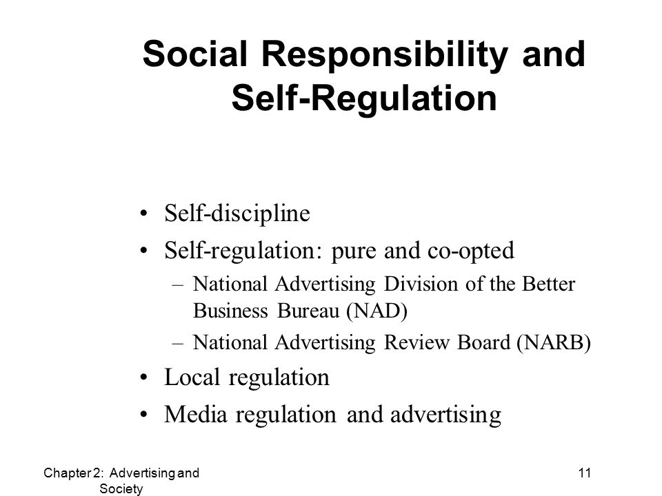 media regulation and social responsibility of Arguing that existing research on csr regulation fails to address the growing  role of the state in shaping the international practices of multinational  corporations,.