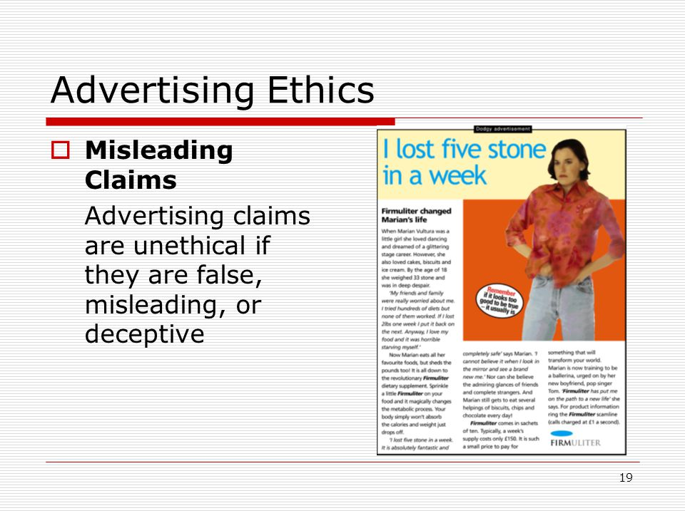 advertising ethics children In my opinion, possibly relevant as this is an a2a, it depends on what you are advertising, as many things can be advertised that are not necessarily products if you are advertising regular teeth brushing, thrifty thinking, healthy eating or roa.