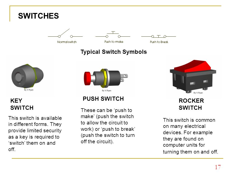 Key Switch Schematic Symbol Wiring Data