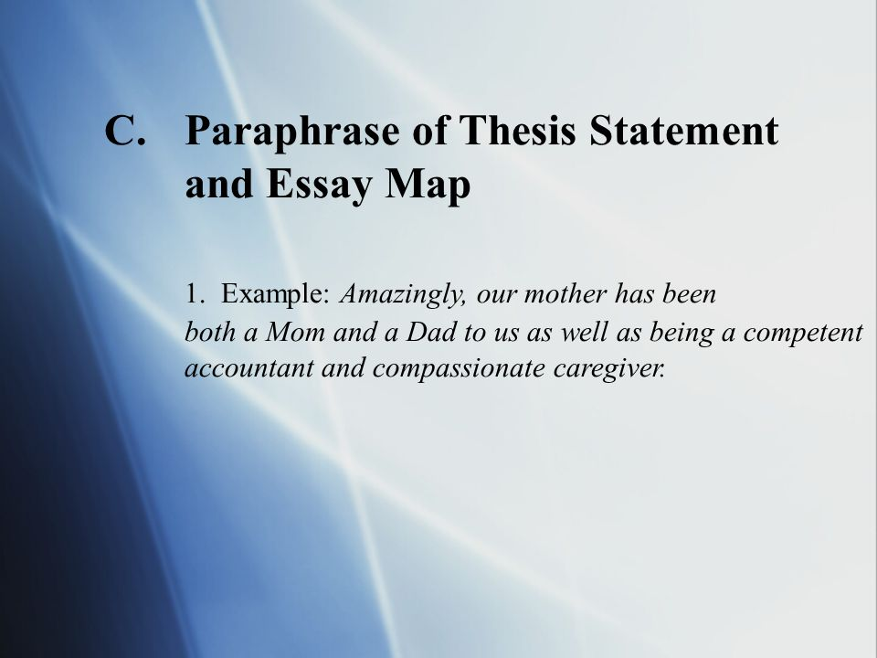 How to write a thesis and essay map