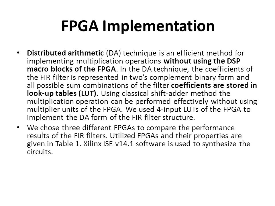 FPGA Implementation
