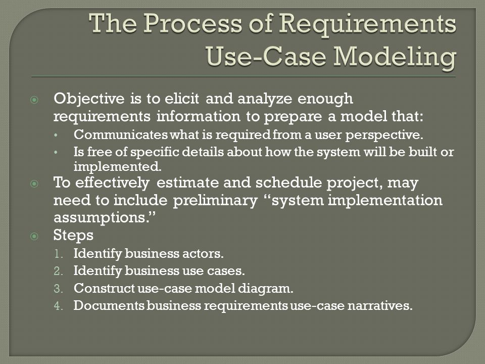 how to prepare use case document