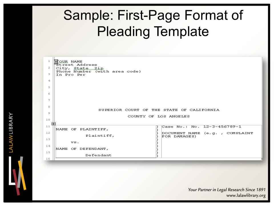 Pleading Paper Template Word 2011 California Conference On Self