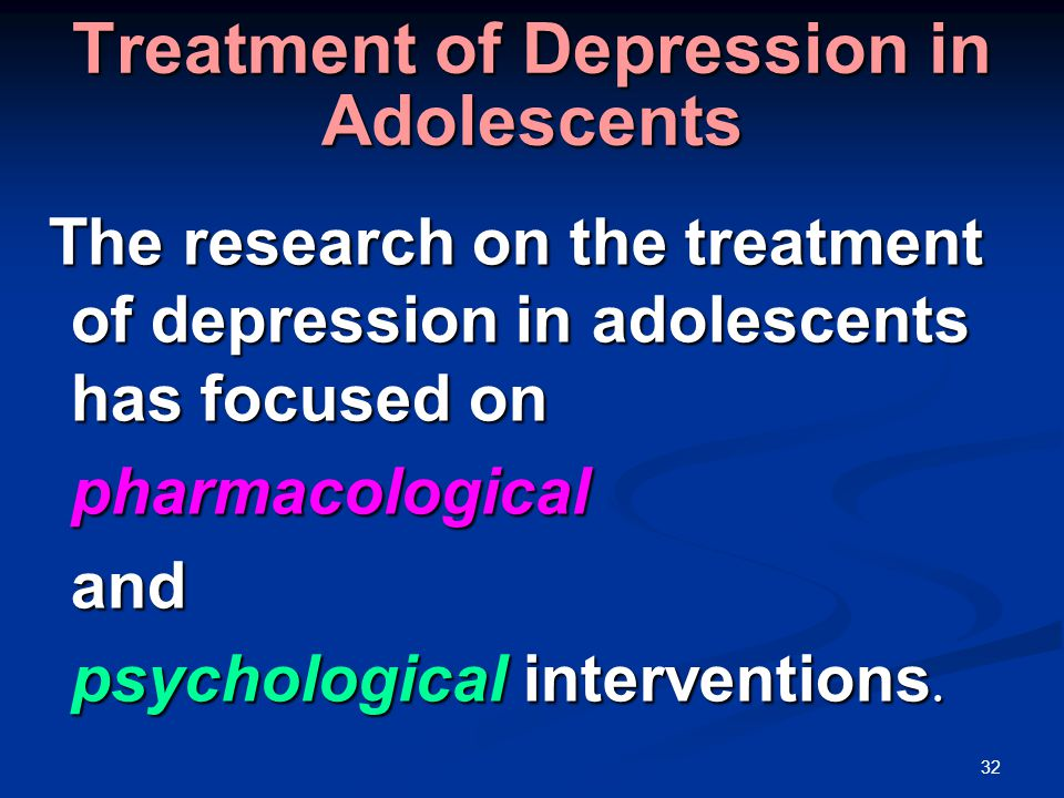 Adolescent Depression Treatment