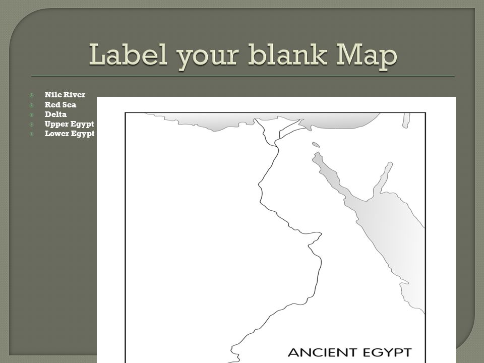 Ancient Egypt Vocabulary Ppt Video Online Download - Map of egypt upper and lower