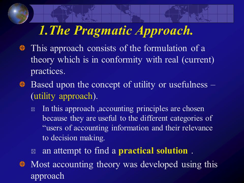 The imporance of accounting theory to