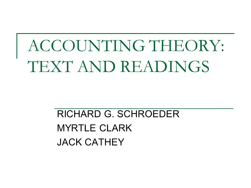 accounting theory development Accounting theory - accounting is in the current state of being an art it is referred to as a social science, but the question that still remains in view today is should accounting be an art or should it actually be a science.