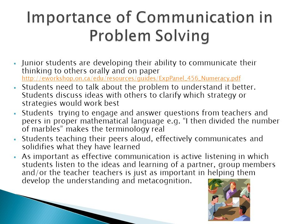 Importance of Communication in Problem Solving