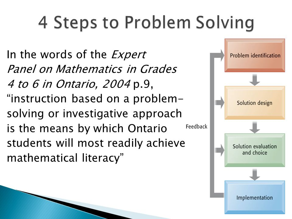 Solving math problems step by step