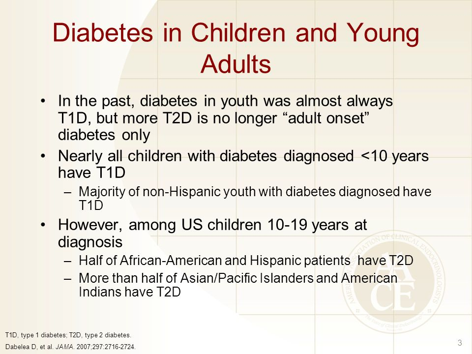 Diabetes in Children and Young Adults