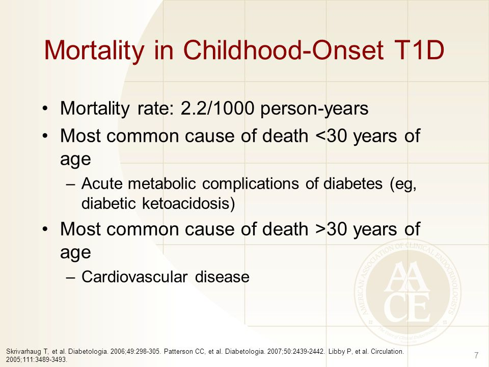 Mortality in Childhood-Onset T1D