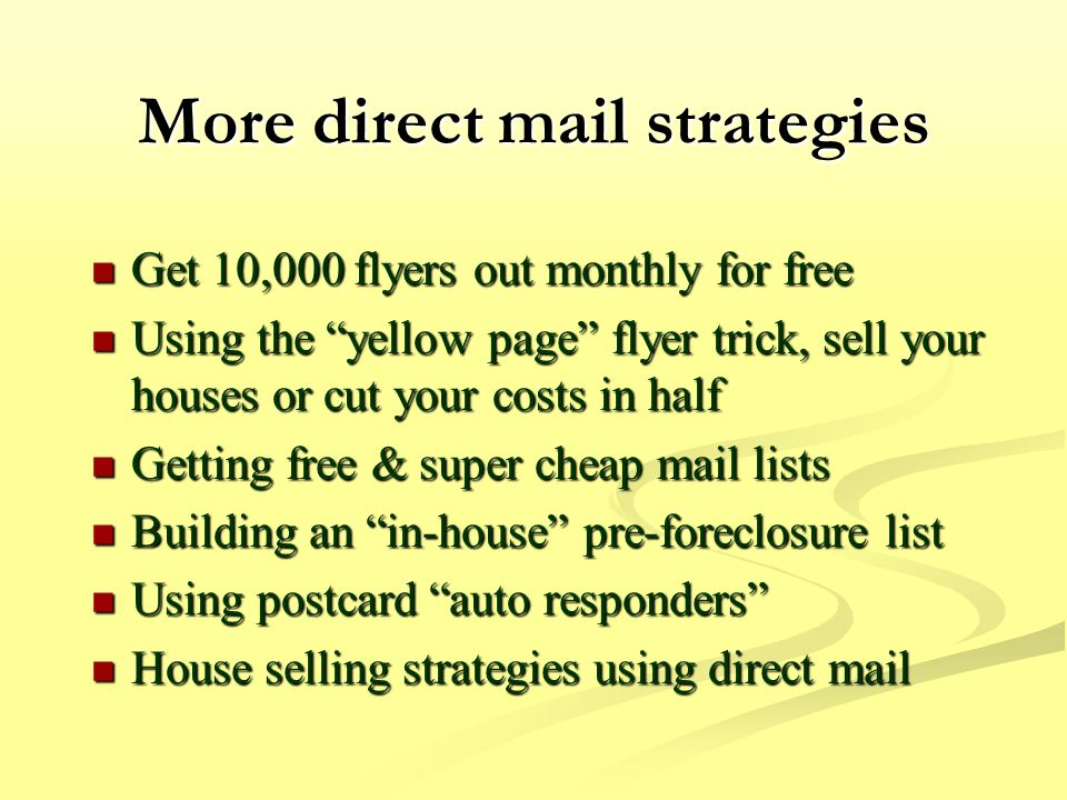 Million Dollar Direct Mail Systems For Buying Houses Ppt