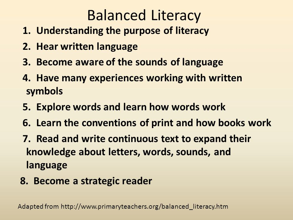 balanced literacy framework Balanced literacy framework a k-12 approach to literacy instruction a k-12 approach to literacy instruction balanced literacy is supported by the.