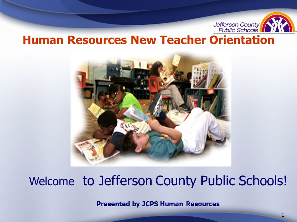 Human Resources New Teacher Orientation