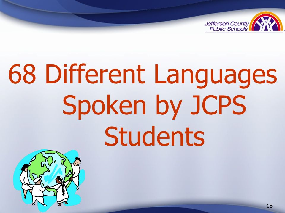 Different Languages Spoken by JCPS Students