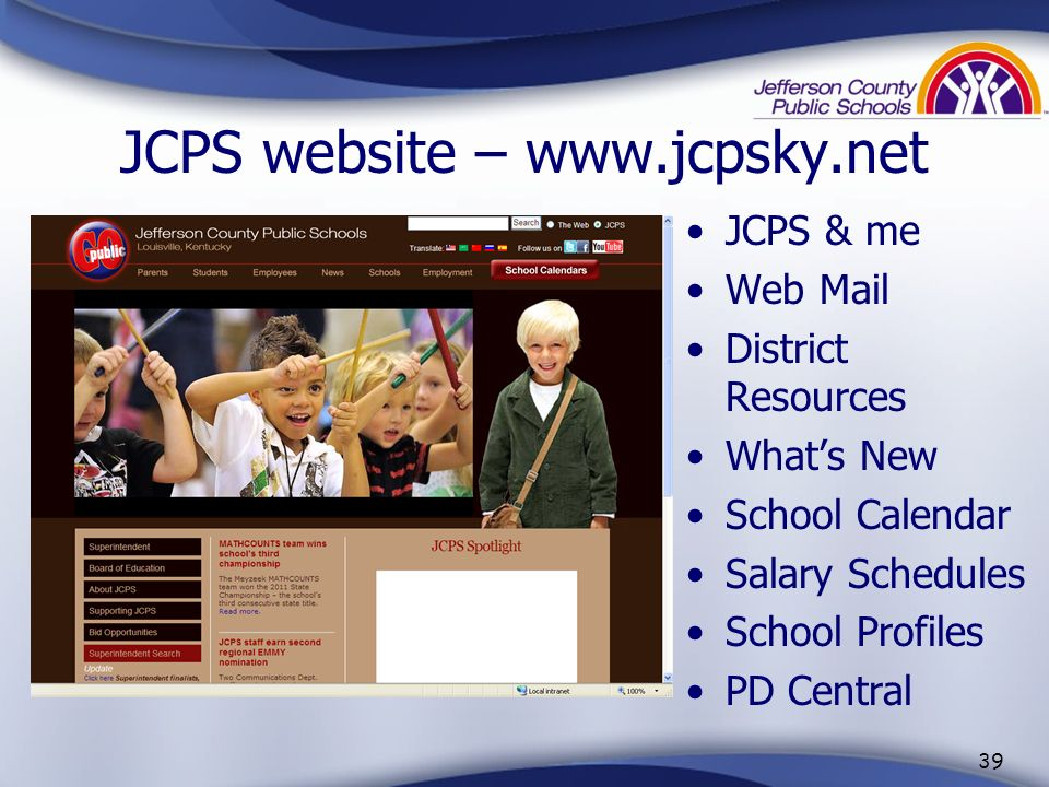 JCPS website – www.jcpsky.net