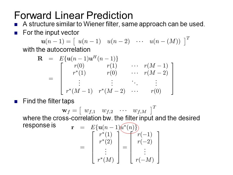 Forward Linear Prediction