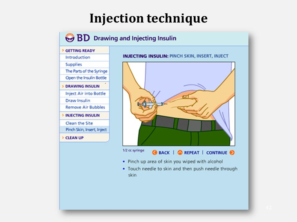 how to give insulin injection nursing