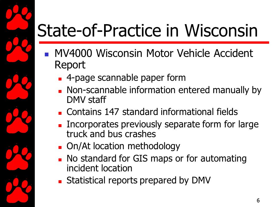 Badger tracs a coordinated effort ppt video online for Motor vehicle reports online