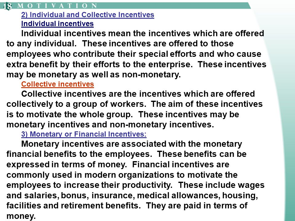 2) Individual and Collective Incentives