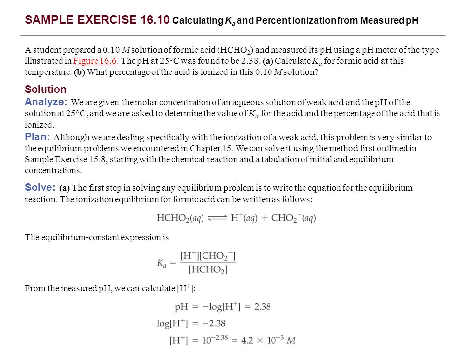 SAMPLE EXERCISE 16.1 Identifying Conjugate Acids and Bases - ppt ...
