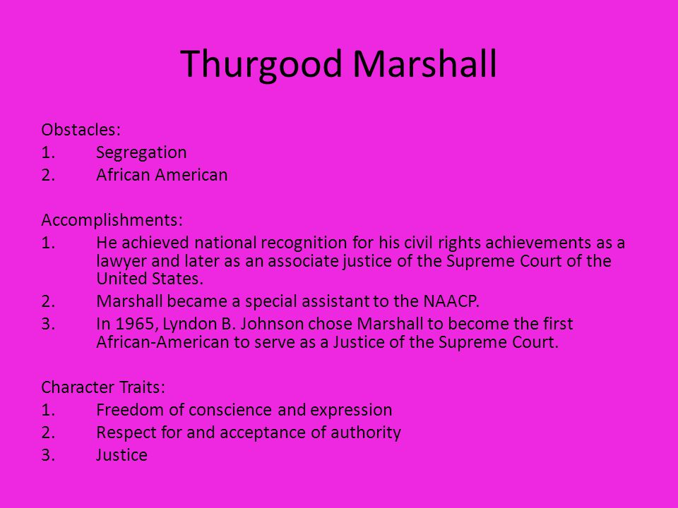 a description of thurgood marshall as a famous african american lawyer What to know about the real case that inspired the movie marshall  time history newsletter the celebrated lawyer saw  local african-american.