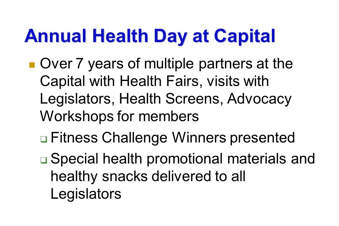 Annual Health Day at Capital