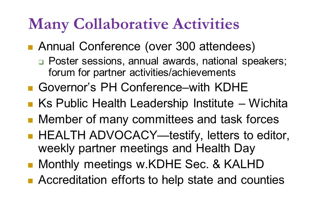 Many Collaborative Activities