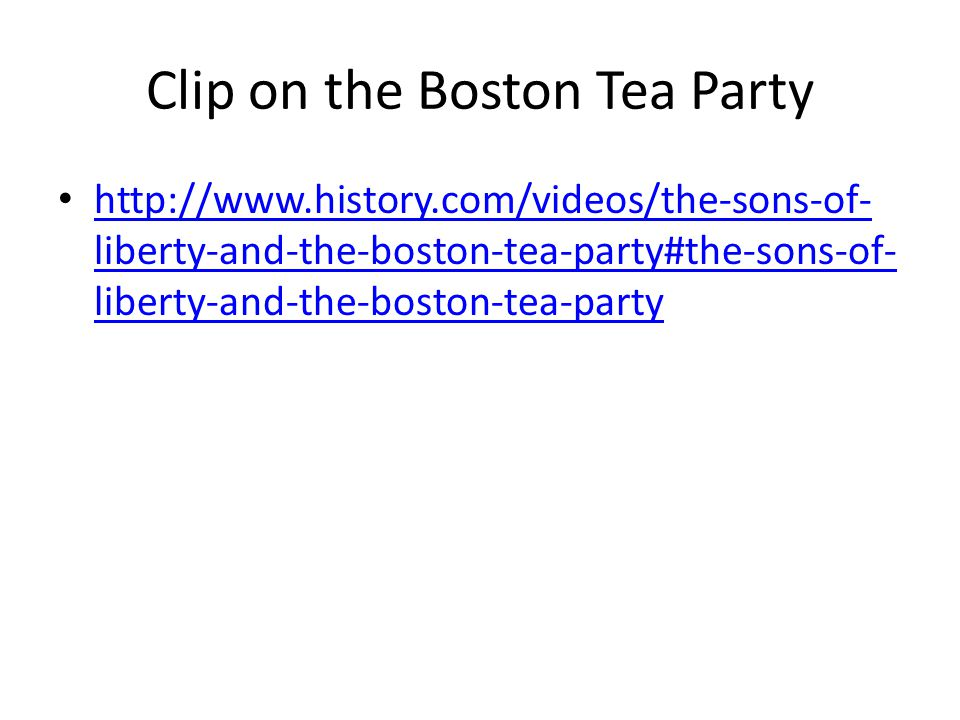 boston tea party the boston tea party ppt  clip on the boston tea party