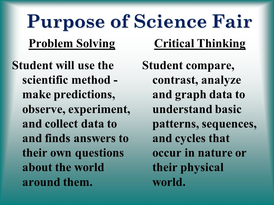 Purpose+of+Science+Fair Sample Application Letter For Fresh Graduate Accounting Staff on