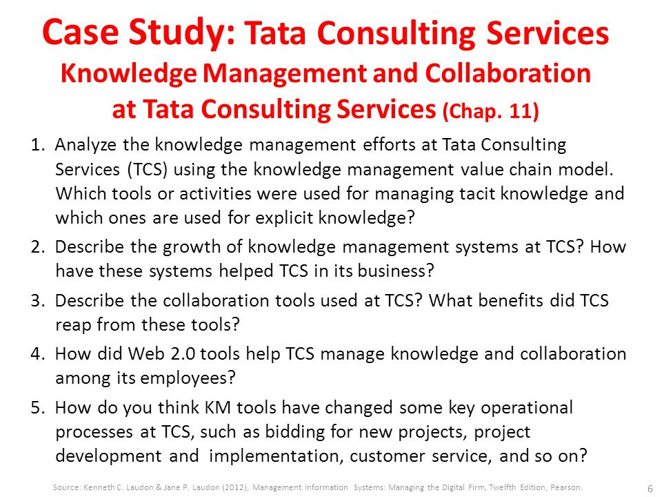 Knowledge management and collaboration at tata consultancy services case study