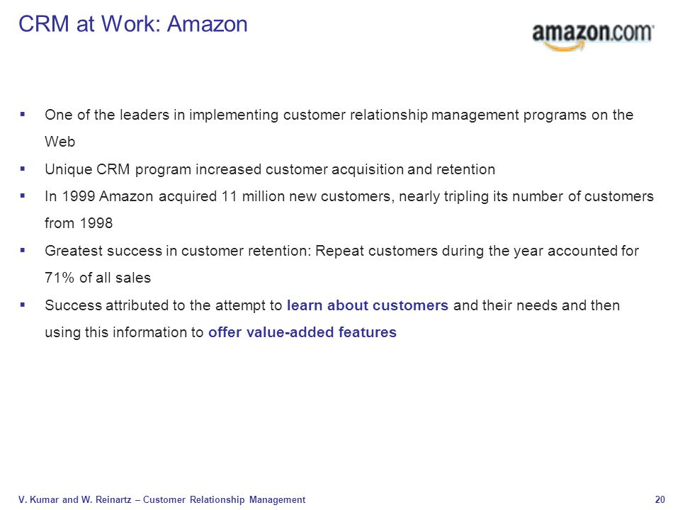 Amazon crm analysis