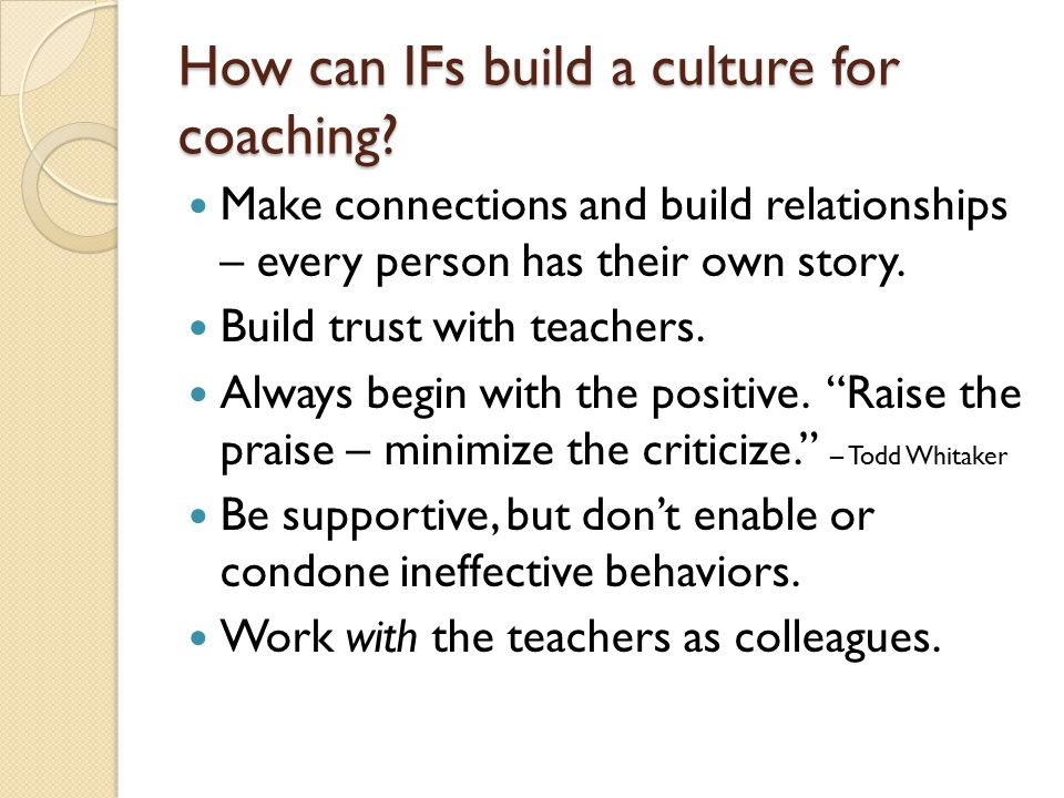 how to build trust as a coach