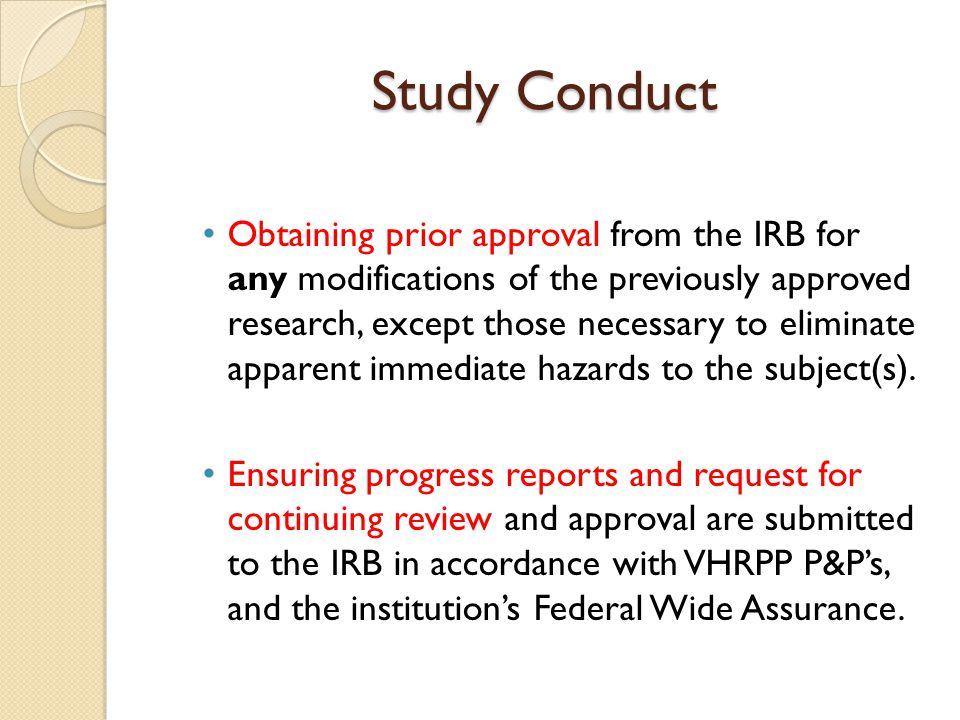 Investigator Responsibilities For Research