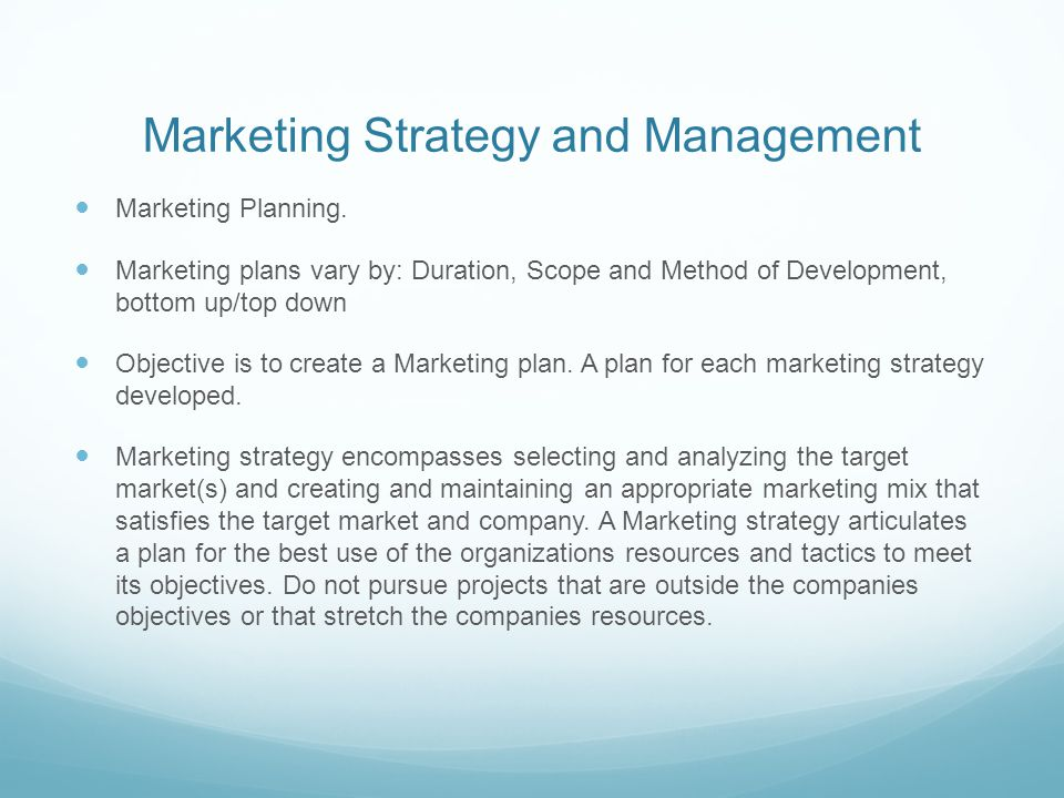 Marketing Strategy And Management  Ppt Video Online Download