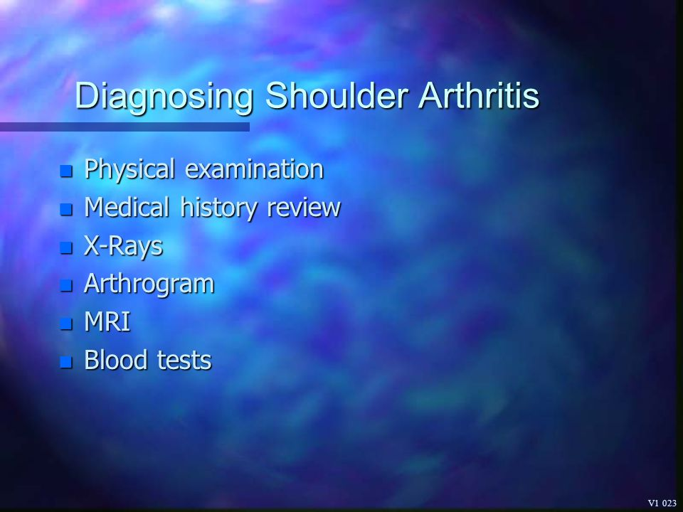 Diagnosing Shoulder Arthritis