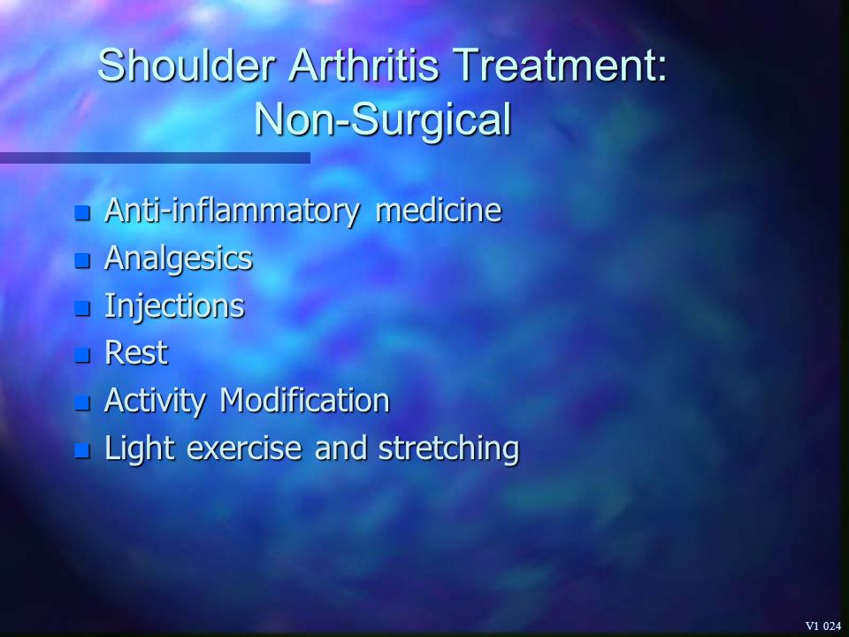 Shoulder Arthritis Treatment: Non-Surgical