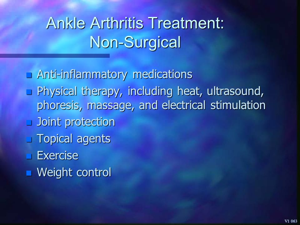 Ankle Arthritis Treatment: Non-Surgical
