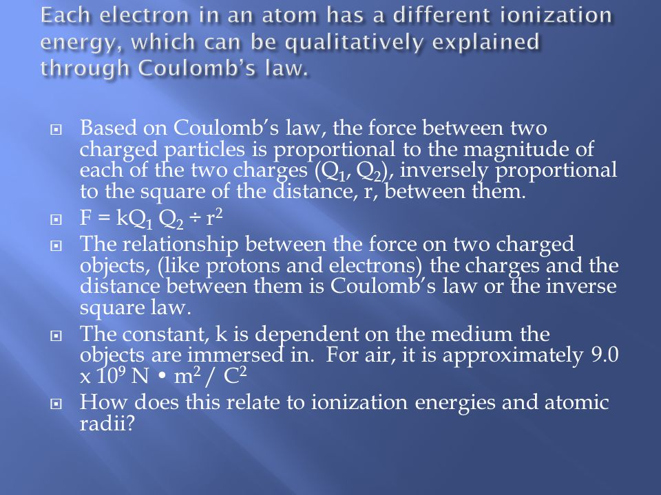 what is the inverse relationship between atomic size and ionization energy