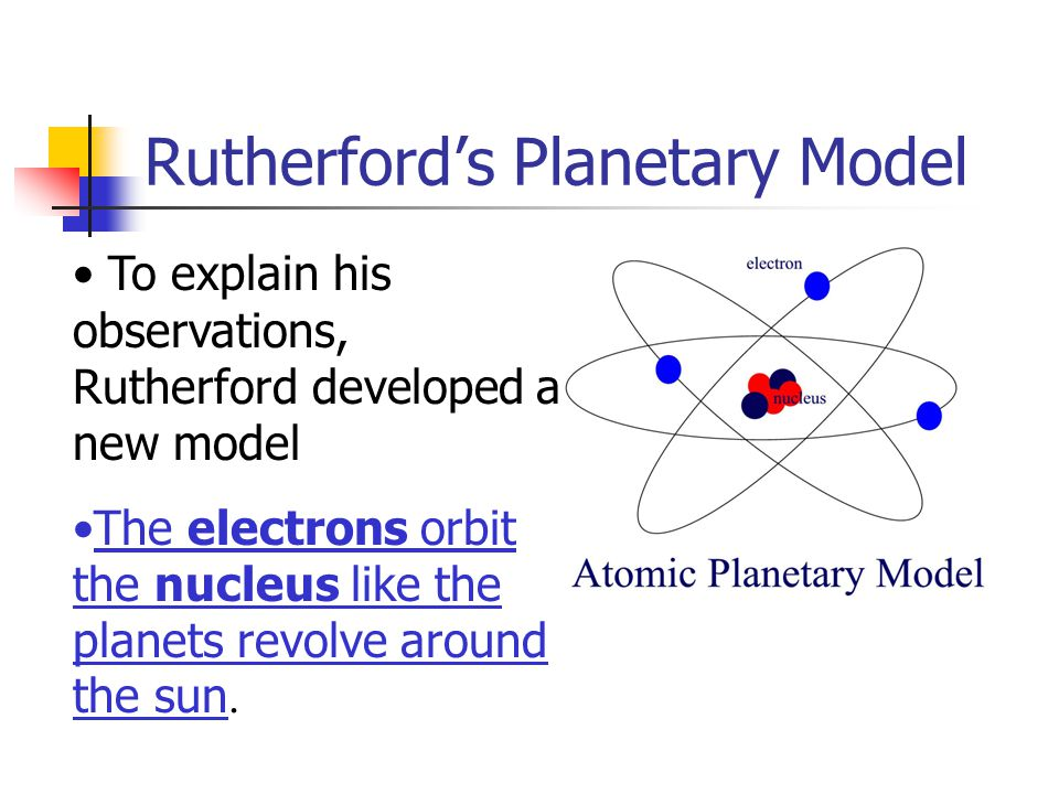 Rutherford's Planetary Model