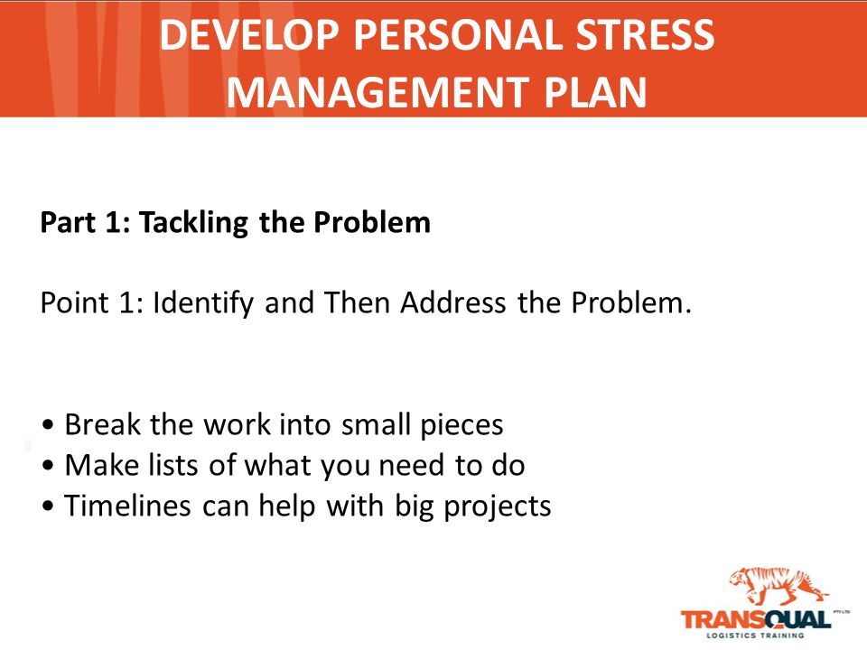 personal stress Finding it tough dealing with stress in your personal life ken morton can help  aleviate this stress with personal stress management techniques and training.