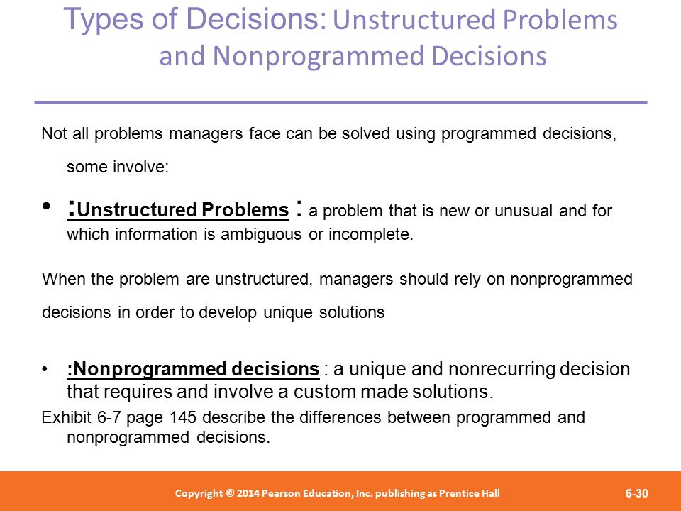 What Is the Difference Between Programmed & Unprogrammed Decisions From a Business Perspective?