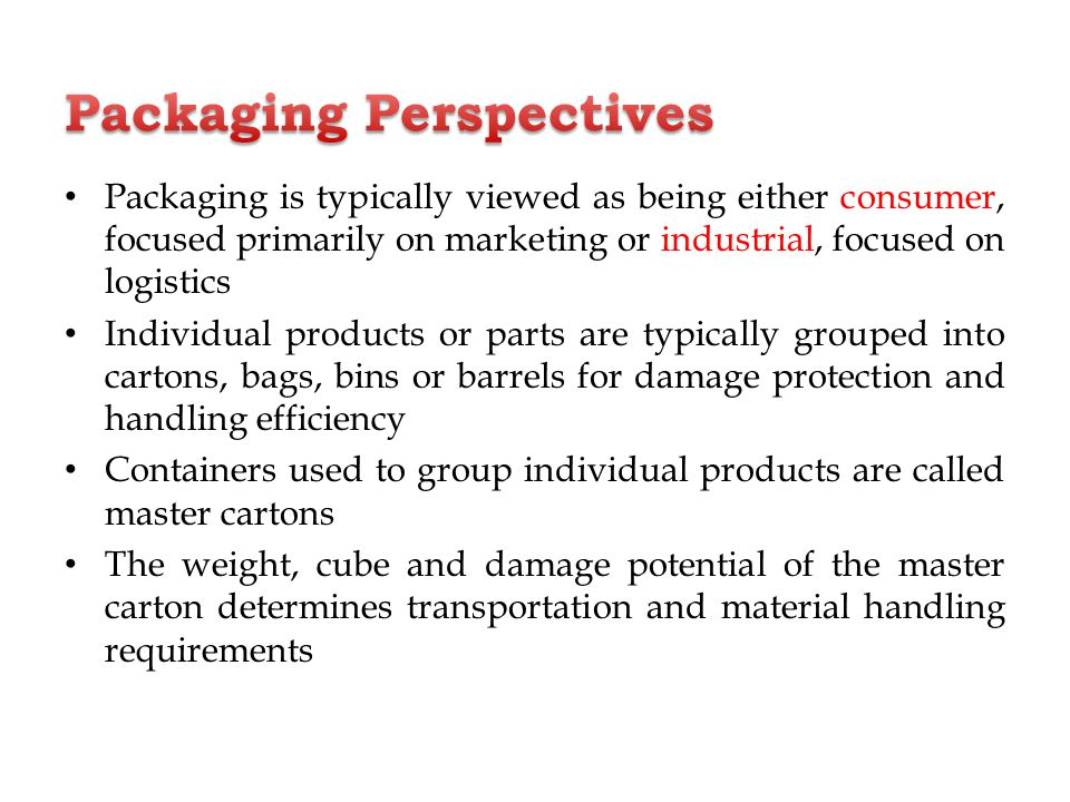 packaging and material handling in logistics pdf
