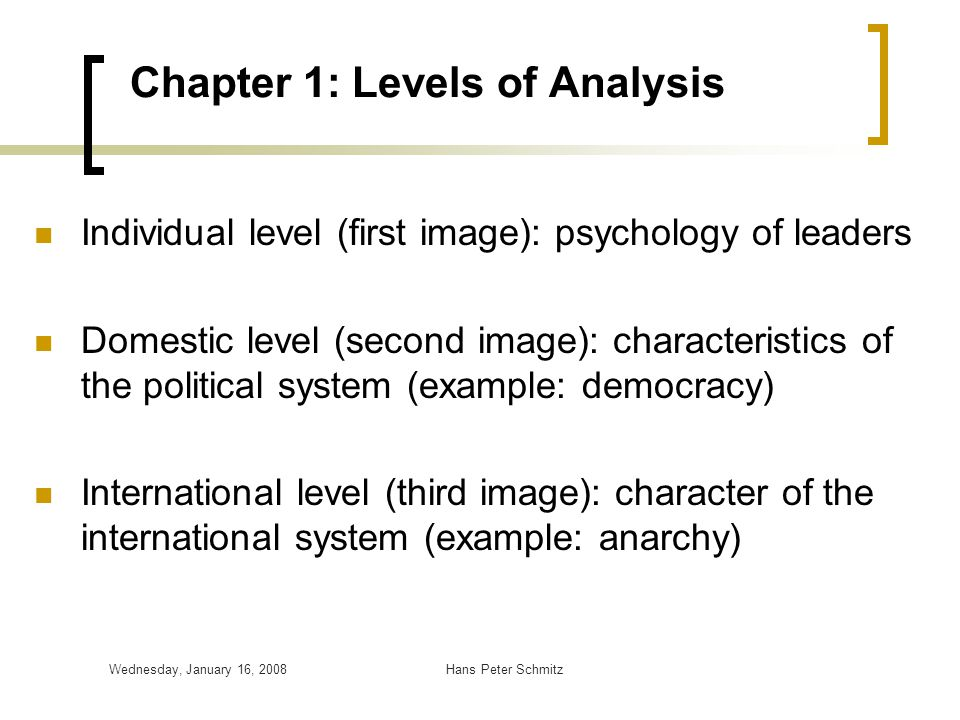 Chapter 1: Levels of Analysis