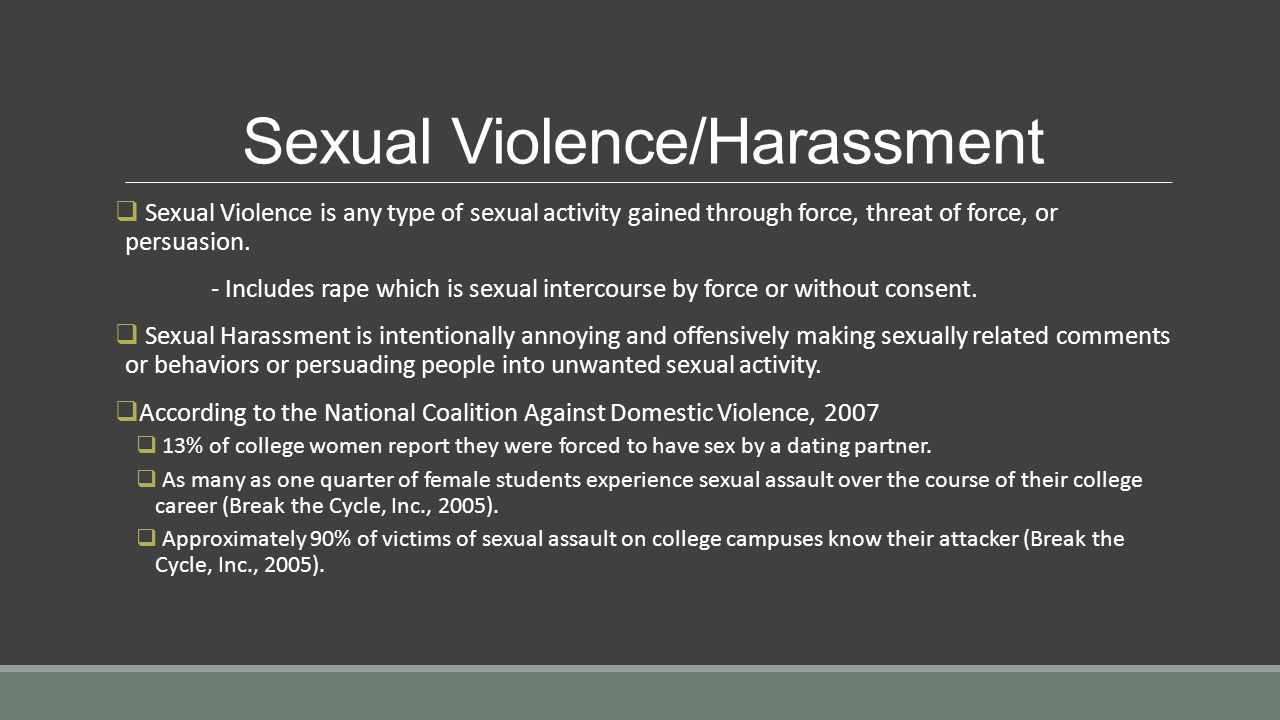 Sexual Violence/Harassment