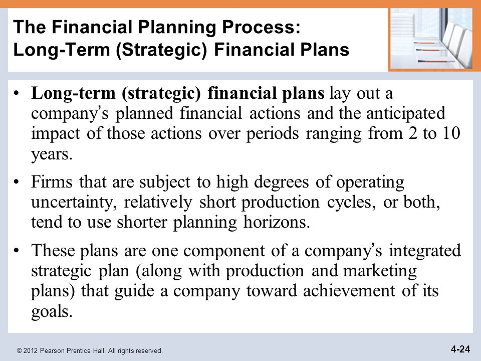 strategic financial planning process pdf